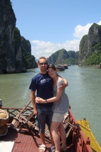 Couple in Halong Bay, Vietnam