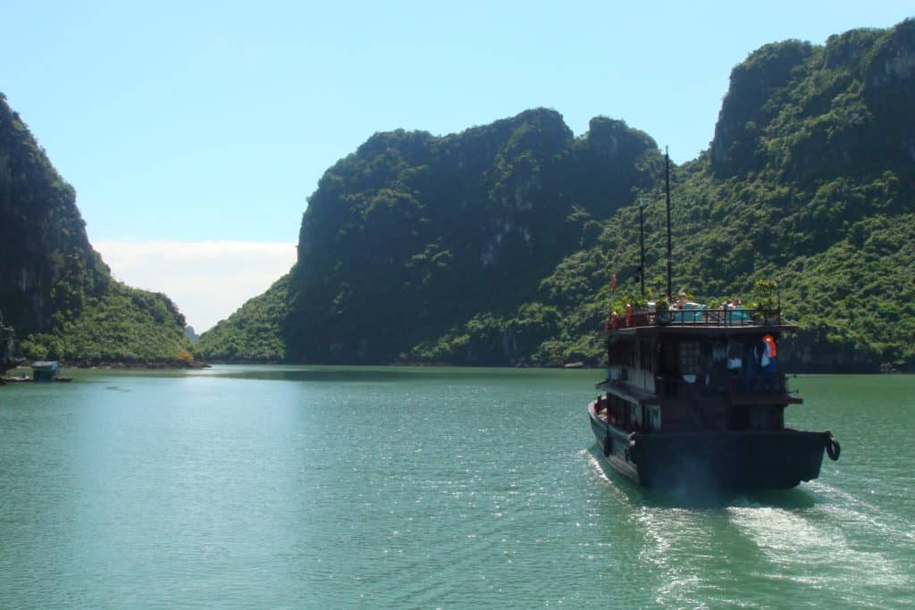Halong Bay in the sunshine