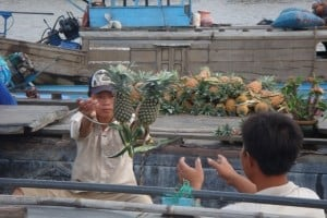 Selling Pineapples on the Mekong Delta