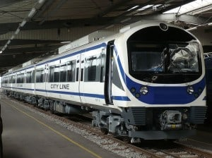 The new carriages that will ply the airport linkline
