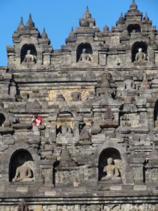 Reliefs and Statues of Borobudur, Central Java, Indonesia