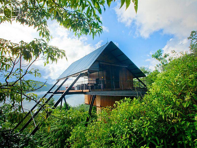 The Ark villa in Sri Lanka surrounded by jungle near Sinharaja Rainforest