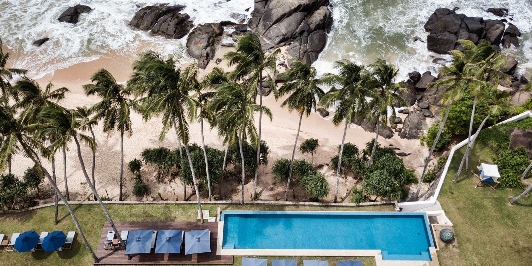 One of the best beaches in Sri Lanka is rugged Kumu beach