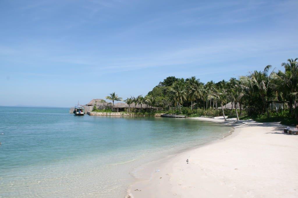 Small beach on the island
