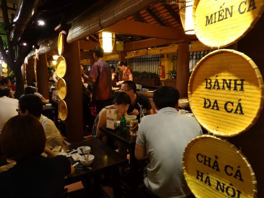 Bustling restaurants