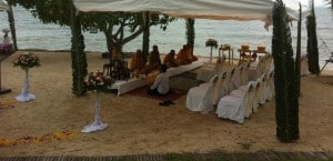 Renewal of vows by the beachside (courtesy of the Napasai)