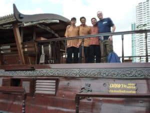 My guide Lee and I on the Bangkok klongs