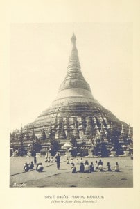 The Shewdagon Pagoda. From the book 'Wanderings in Burma' authored by George W Bird:
