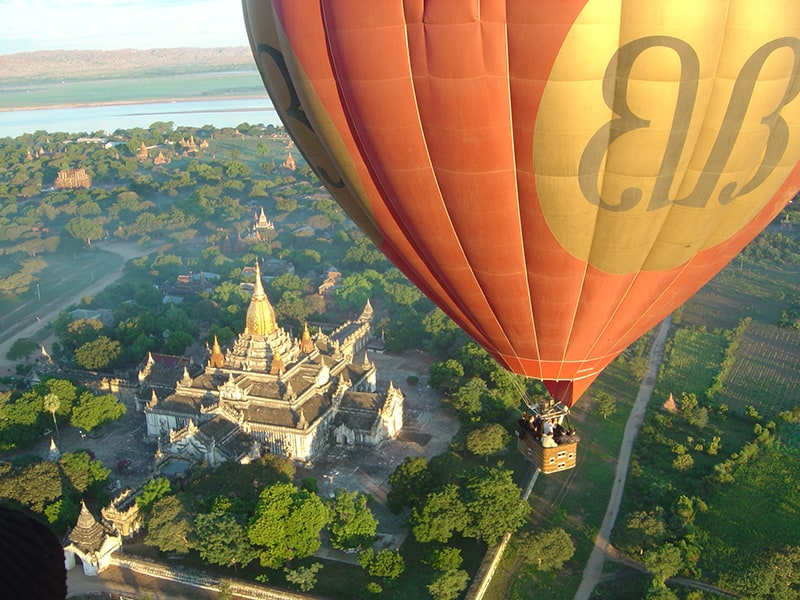 Hot Air Balloon over Bagan, Myanmar