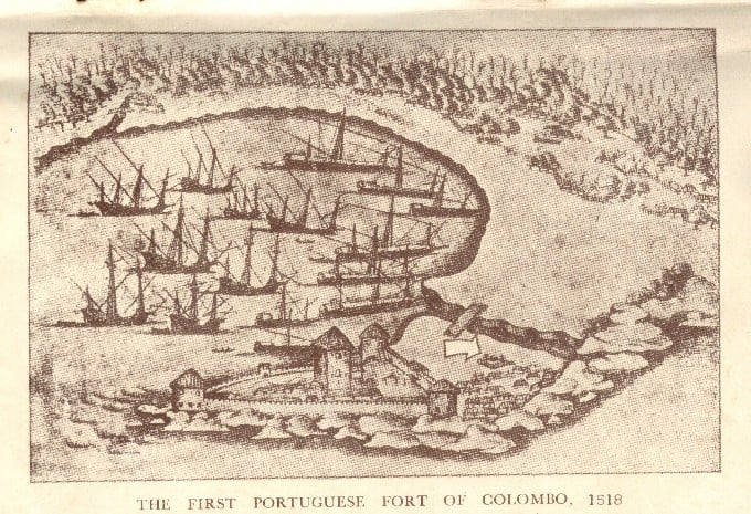 Colombo Fort in 1518