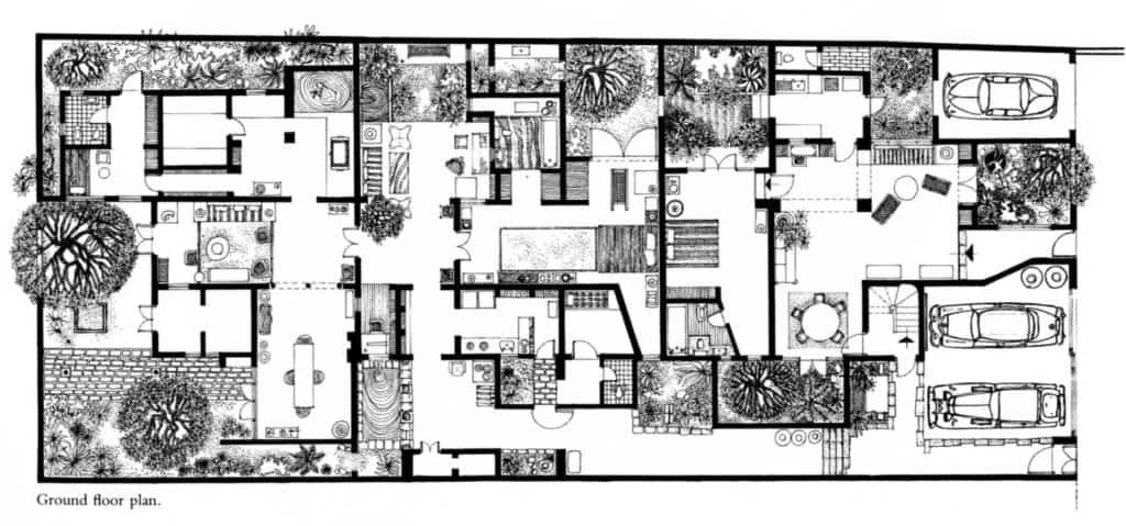 A Drawing of the 33rd Lane Residence on Bagatale Road, 1985
