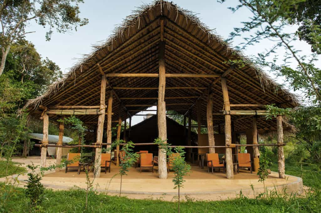 Communal area at Treetops Jungle Lodge close to Yala National Park