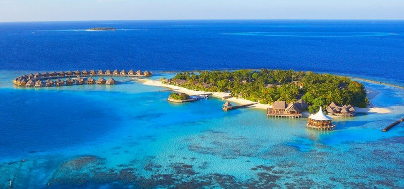 Aerial View of Baros in the maldives