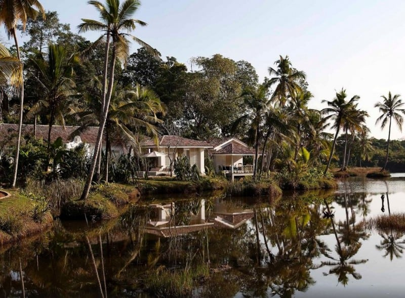 Honeymoon Suite at Duwa Villa in Sri Lanka looking over a lagoon