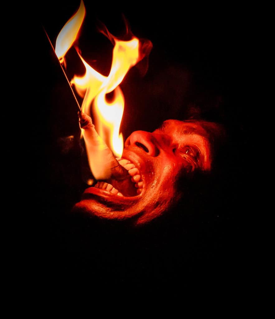Michael's picture of a fire eater is incredibly dramatic. Taken whilst on holiday in Sri Lanka, I feel it captures this more unusual side of the country's culture.