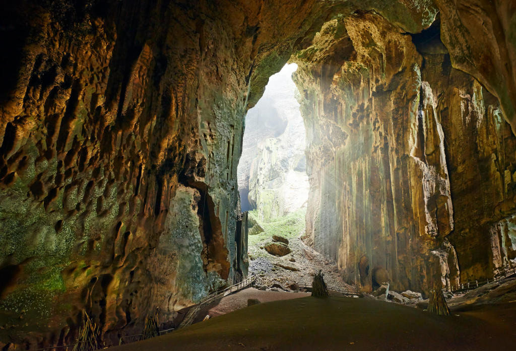 One of the most beautiful caves of Borneo Gomantong that they live in a lot of cockroaches and bats. Malaysia