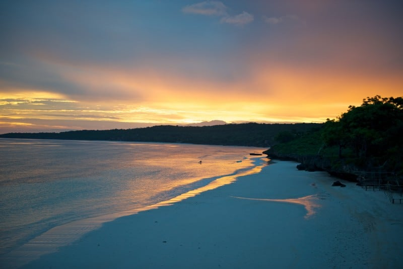 Sulawesi Bira Beach at Sunset