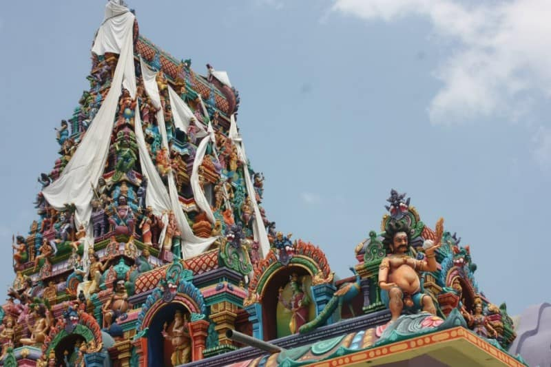 Hindu temple in Sri Lanka during a festival