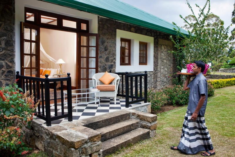Colonial Tea Bungalow with a private sit out area in the tea country