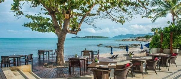 view from the Akaryn beach resort in Koh Samui