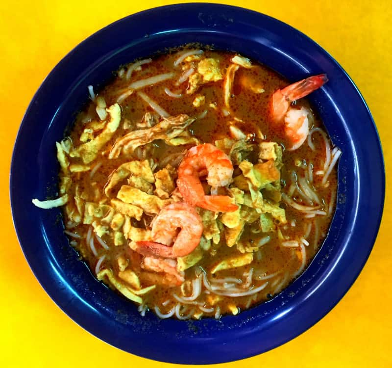 Laksa is a spicy noodle soup very popular in Malaysia and Singapore