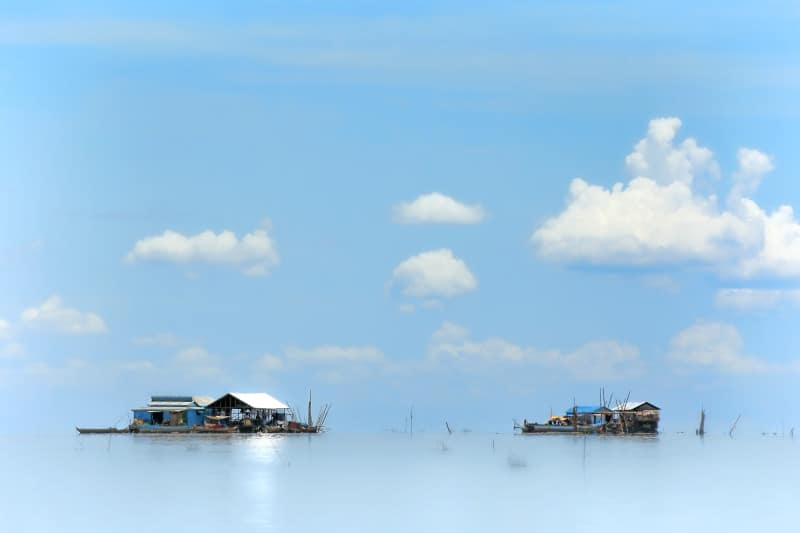 The floating village on Tonle Sap lake