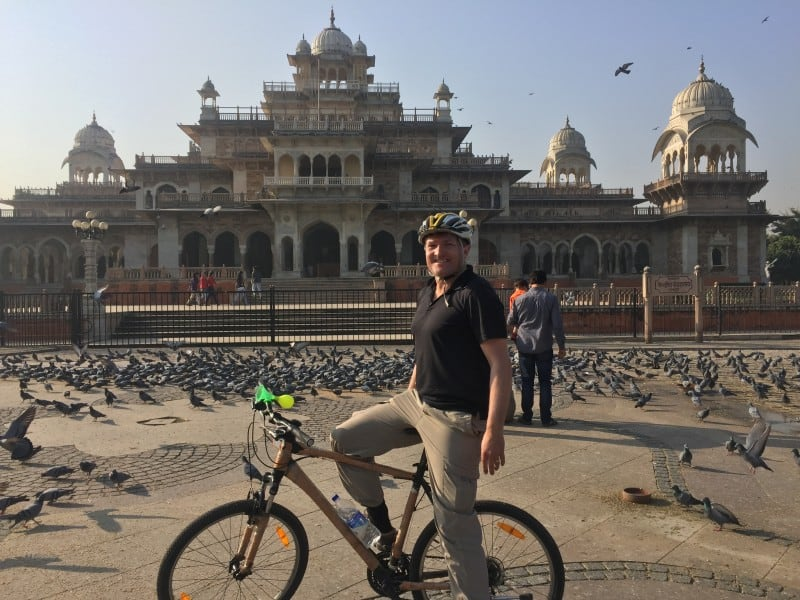 Robin on a cycle tour of Jaipur