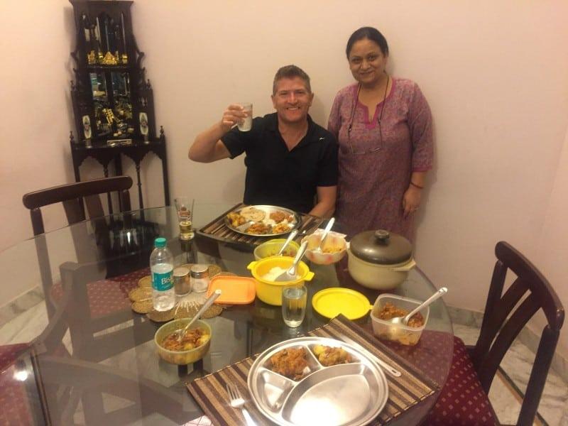 Robin's royal dinner in Jaipur