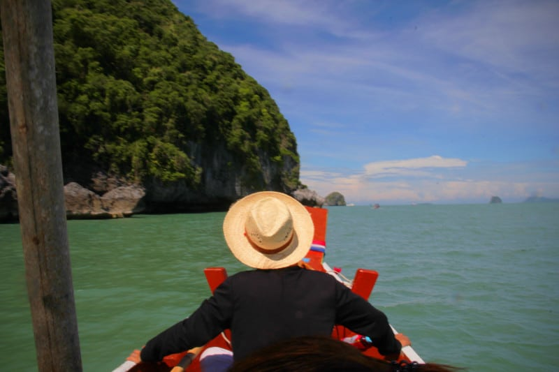 Boating in a traditional fishing vessel, Khanom Thailand