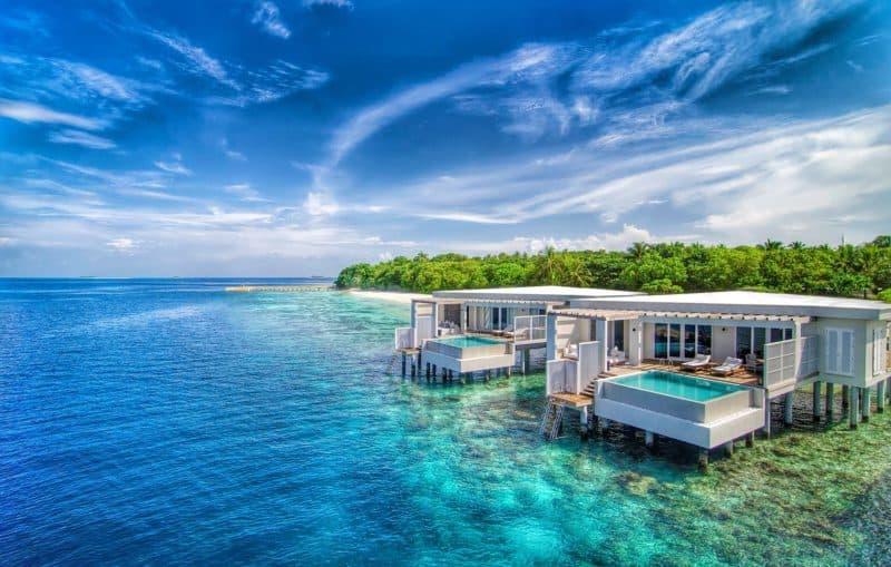 Amilla Fushi with its private pool villas