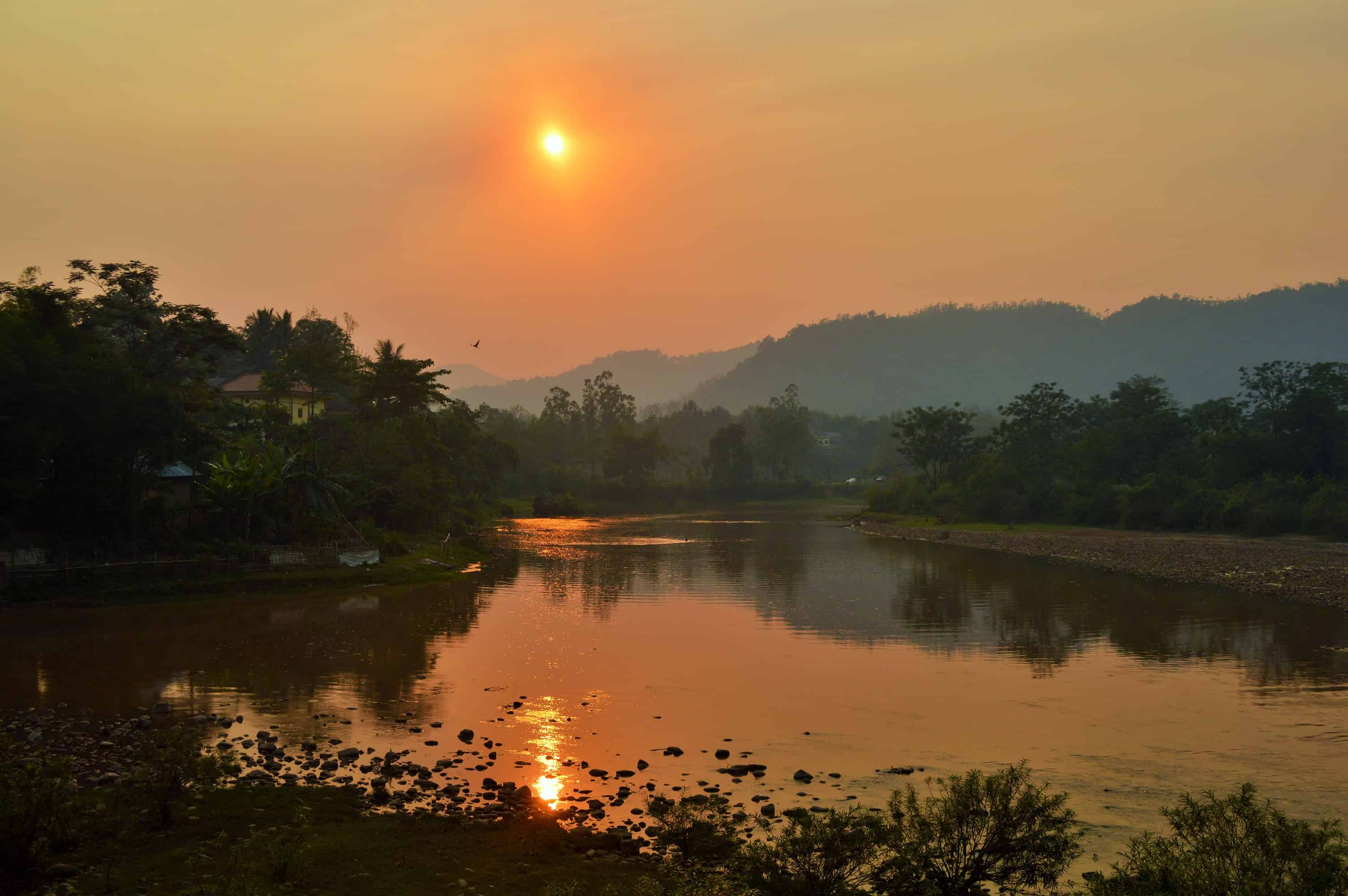 Sunset at Muang La in northern Laos