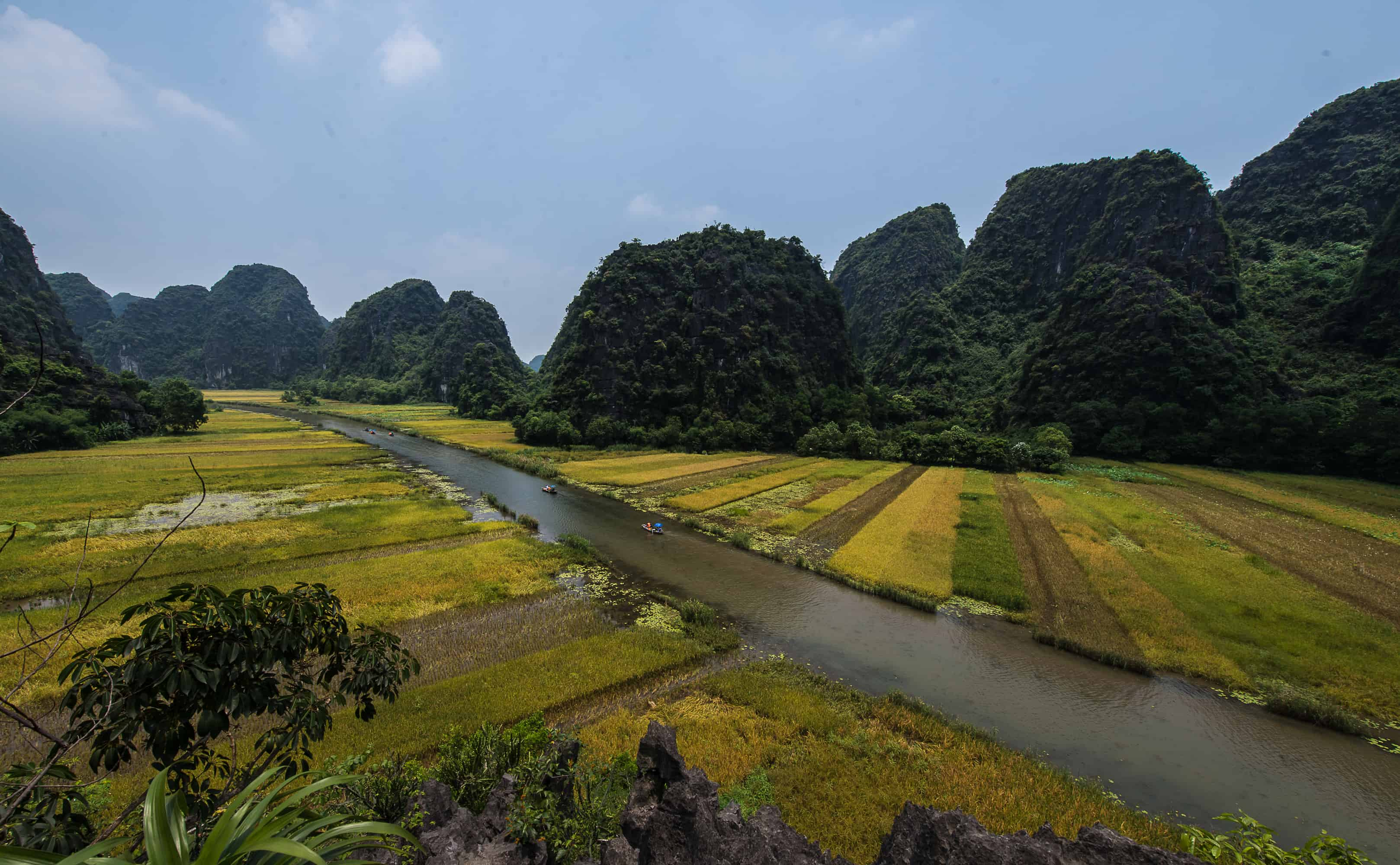 Trang An ecosystem the UNESCO's World Heritage Site also known as 'inland Halong Bay'