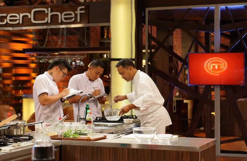 Chef Degan (right) working on Masterchef Indonesia