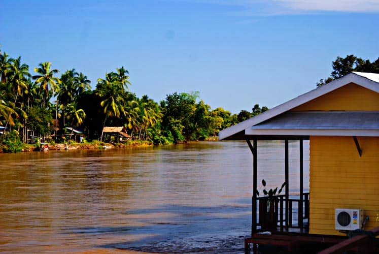Sala Dhone Boutique Hotel in southern laos on the banks of the mekong river