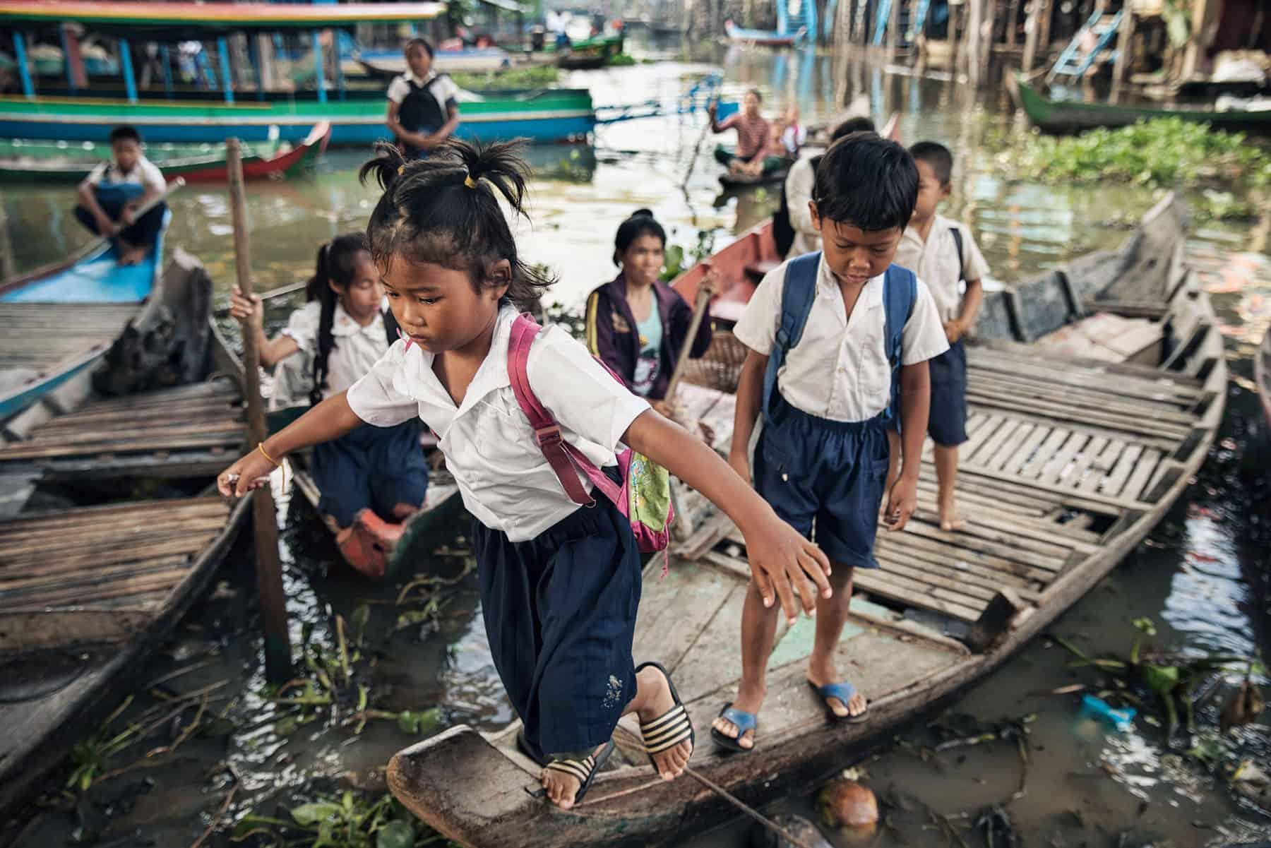Tonle Sap Cambodia Boats