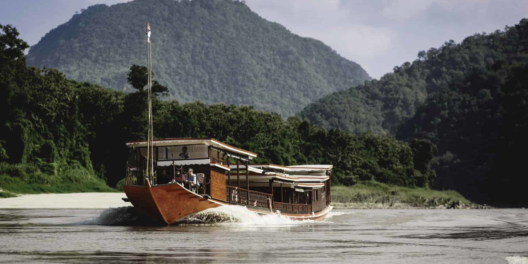 Luang Say Boat on the river Mekong in Laos, a great river experience