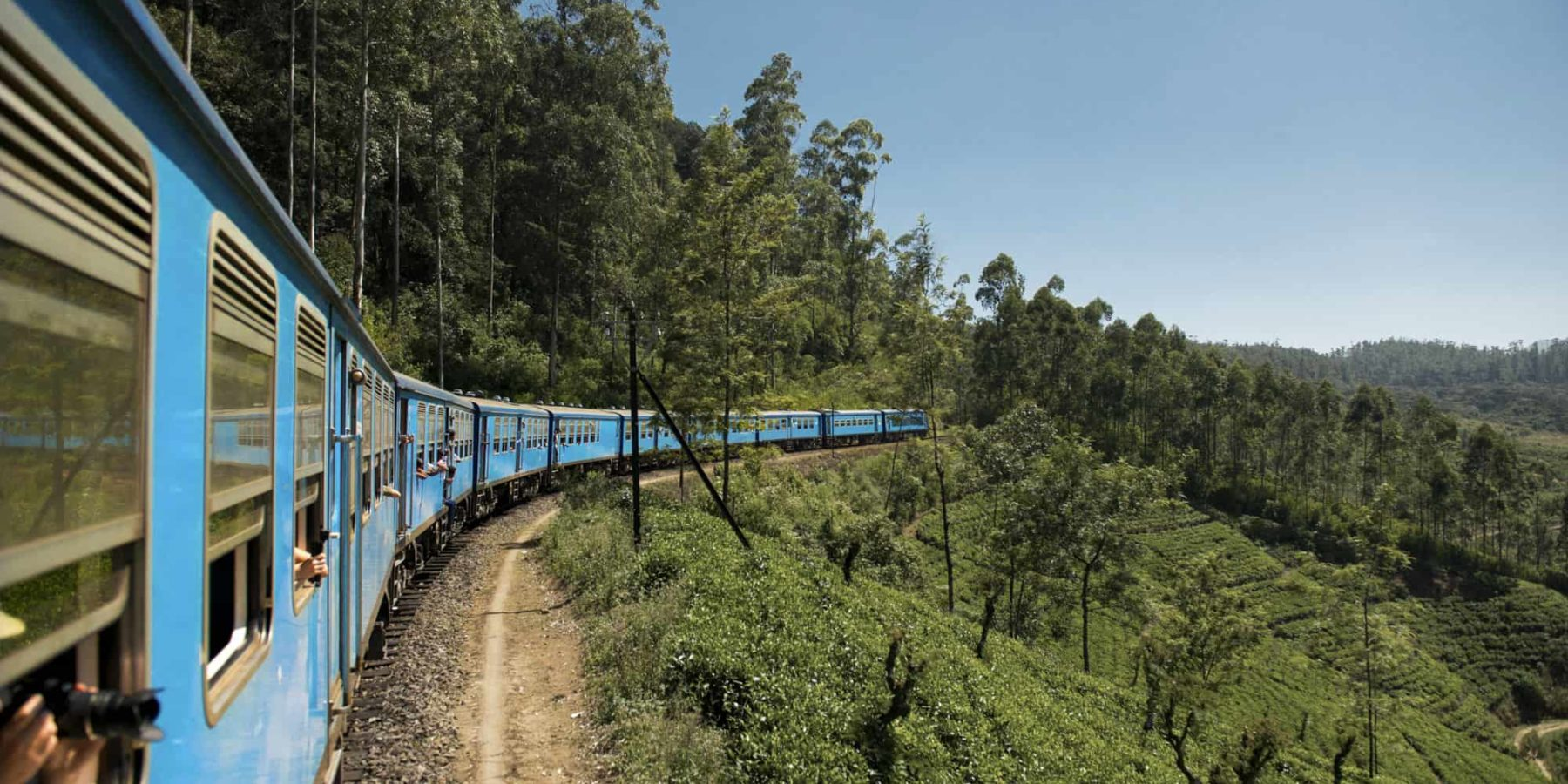 Travelling by train in Sri Lanka