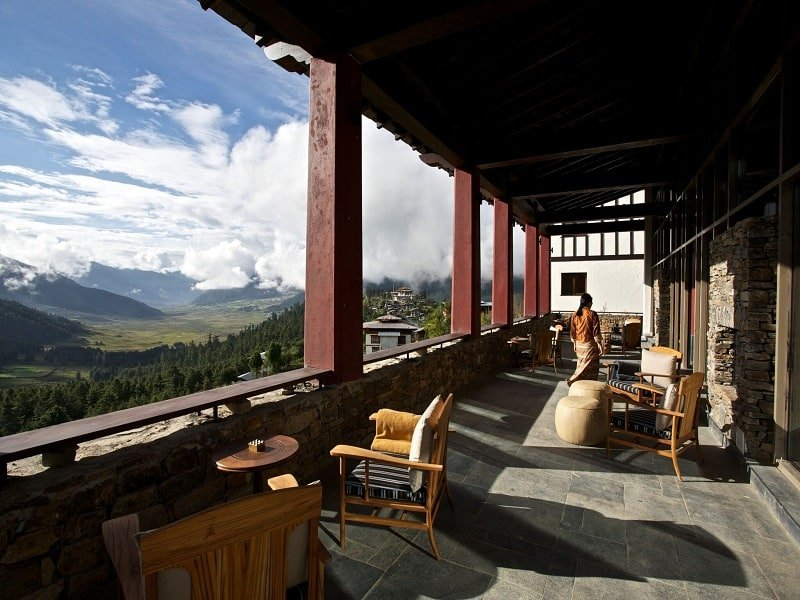 Gangtey Lodge hotel in Bhutan