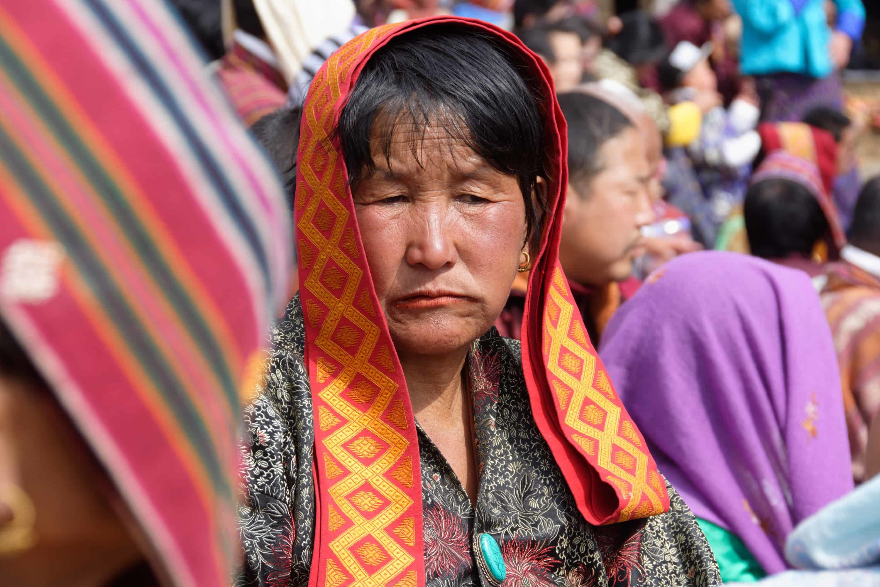 Traditional Dress at Paro Festival in Bhutan