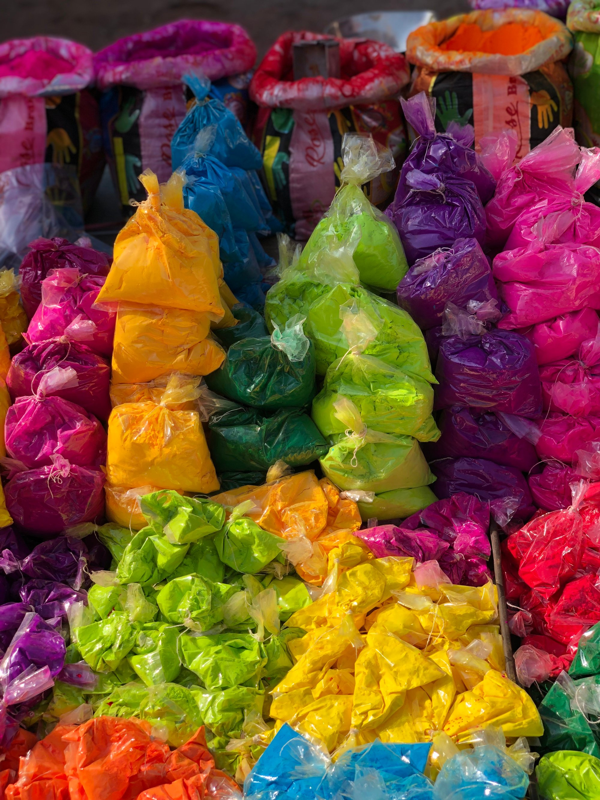 Coloured dyes for the Holi Festival