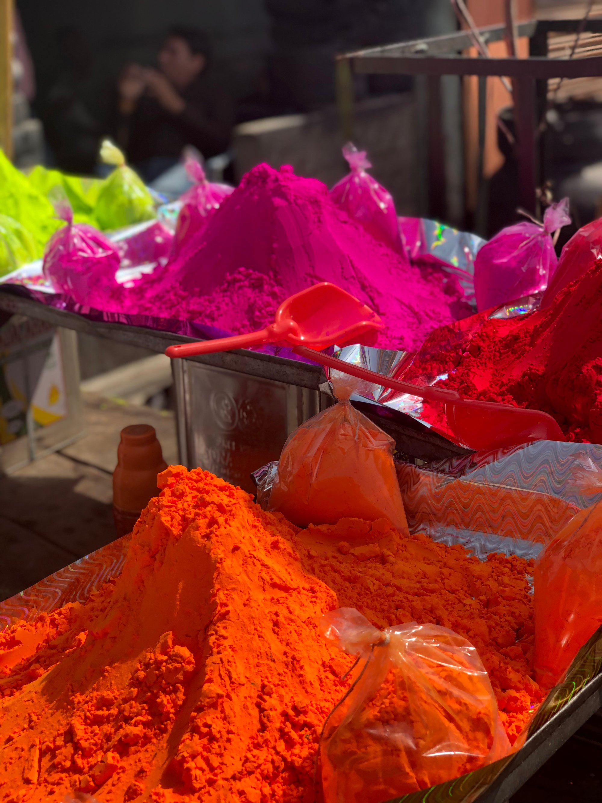 Powdered vegetable dye for Holi festival