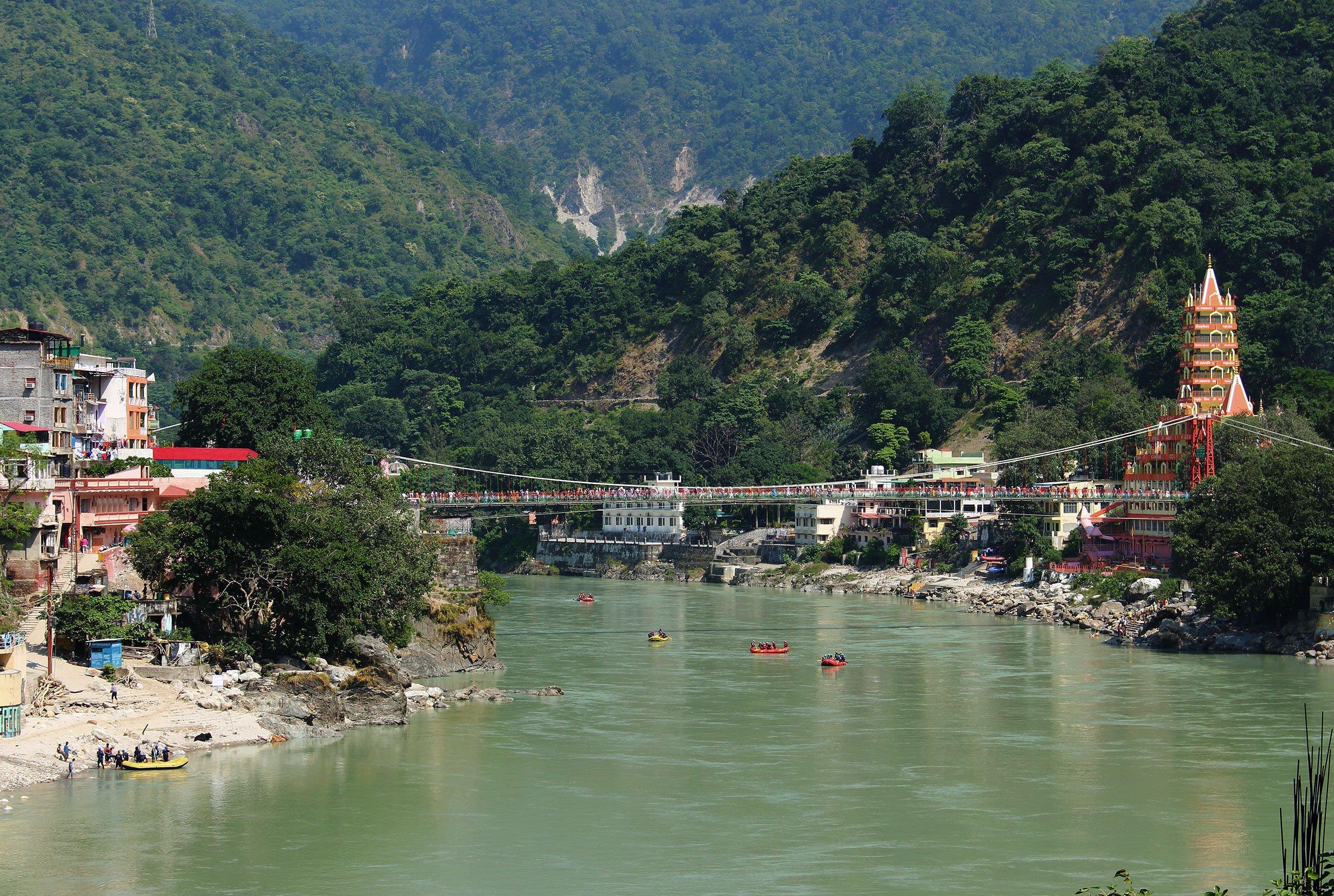 Rishikesh River in India
