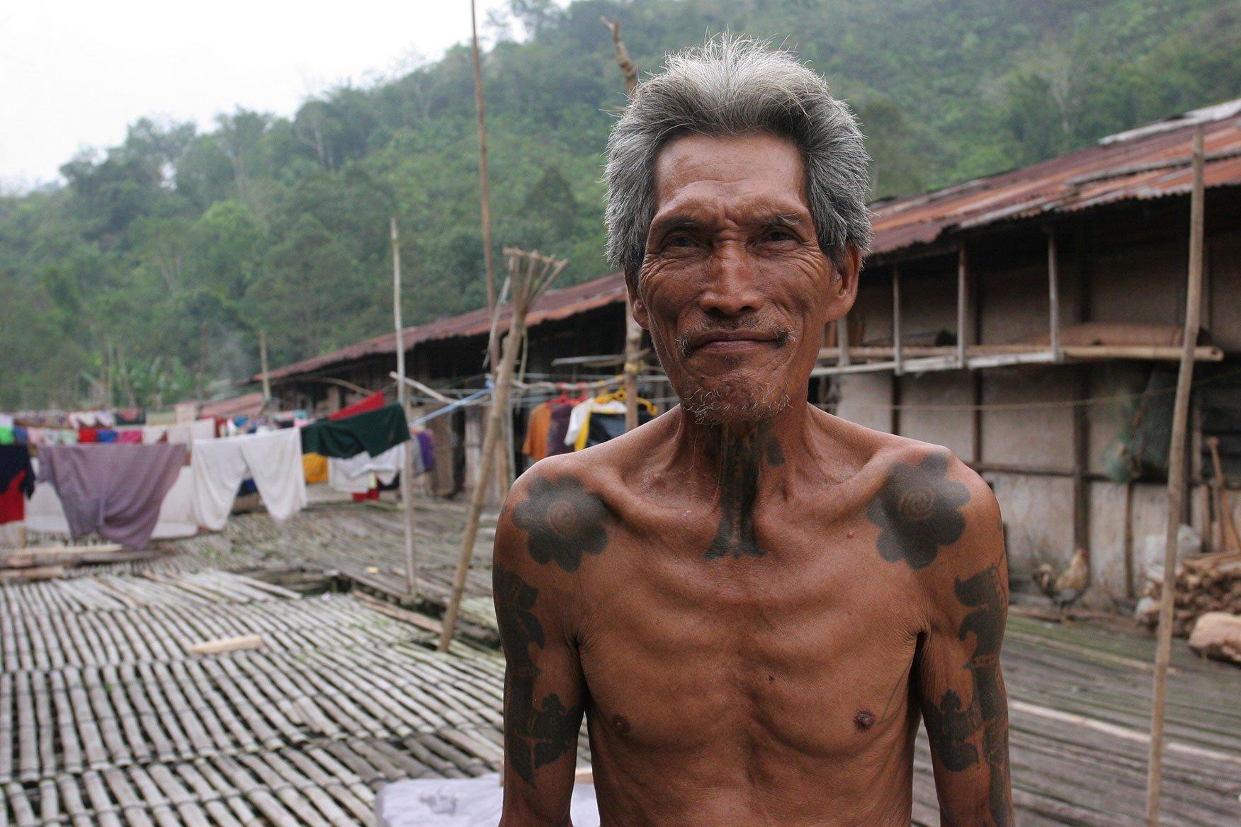 Local community near Kuching in Borneo