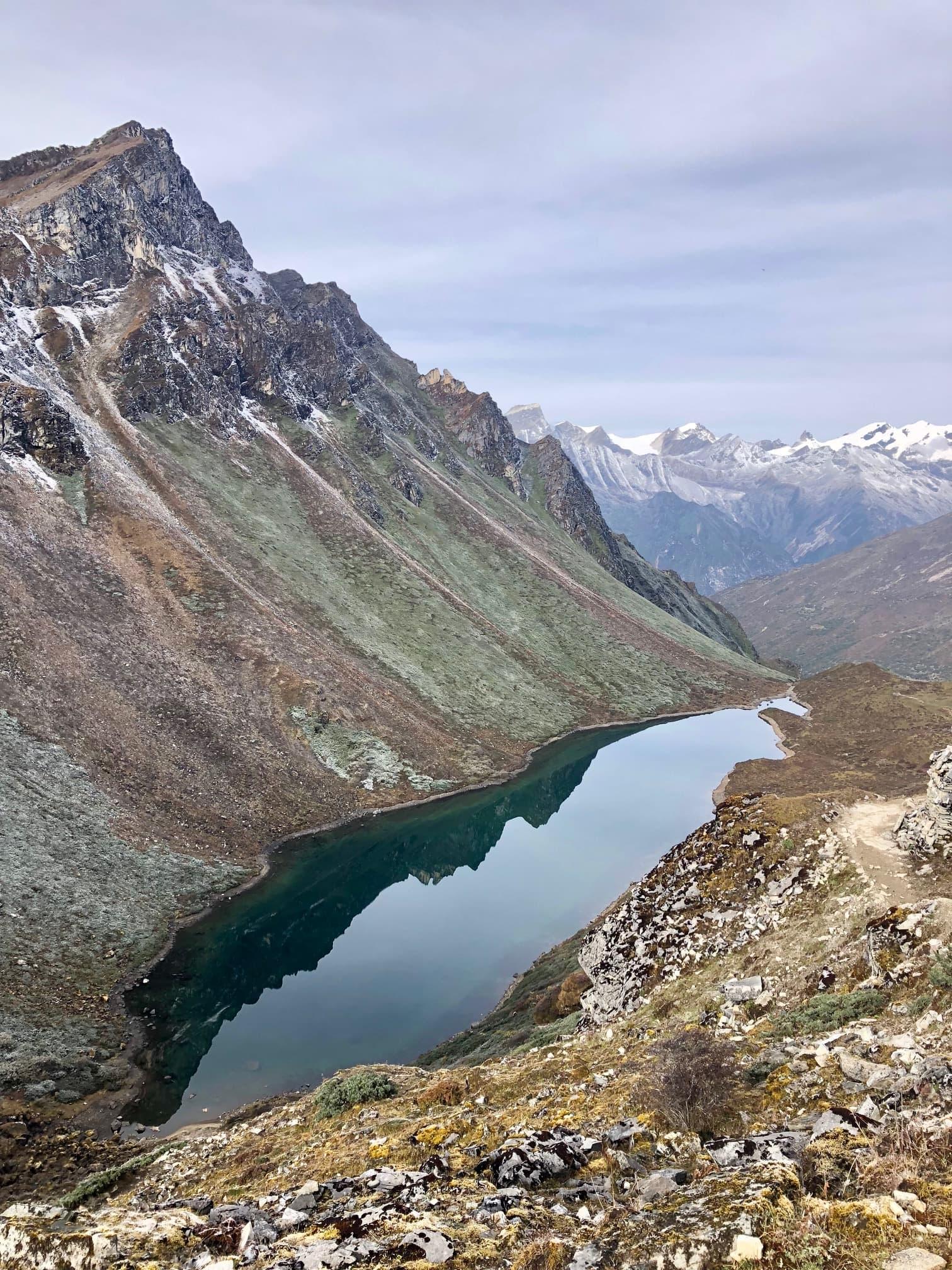 Sacred lake in Himalayas