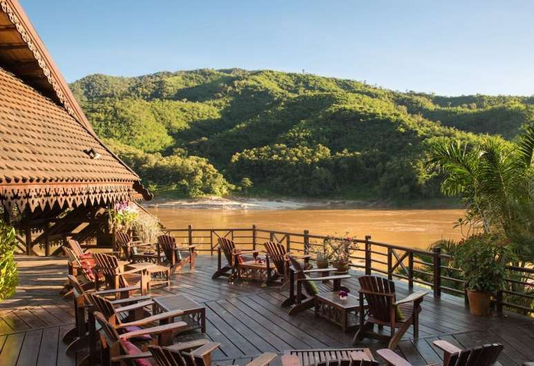 View Mekong River in Laos from Luang Say Lodge
