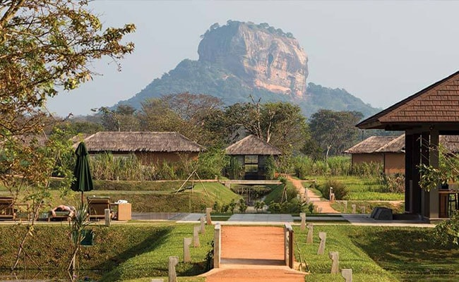 View of Sigiriya Rock in Sri Lanka
