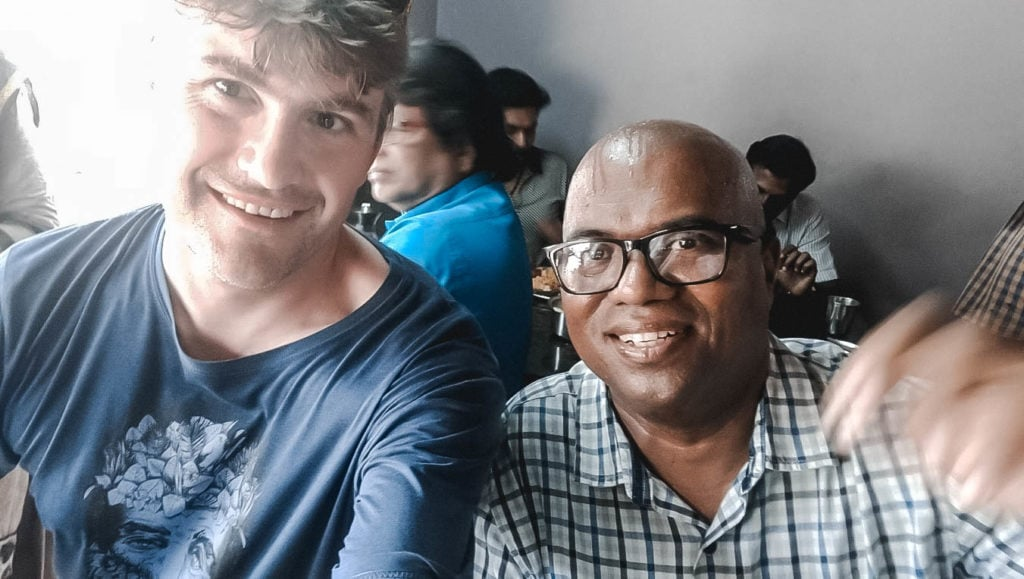 Tourist in Sri Lanka with local guide