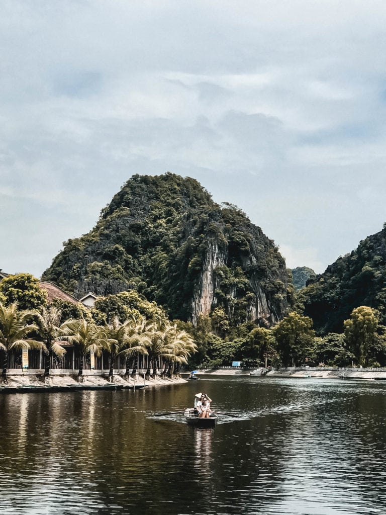 Quiet waterways of Ninh Binh by rowing boat