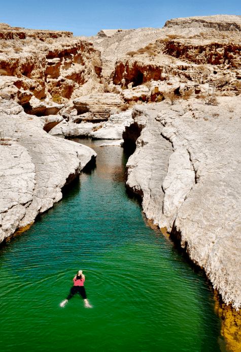 Swimming in Oman