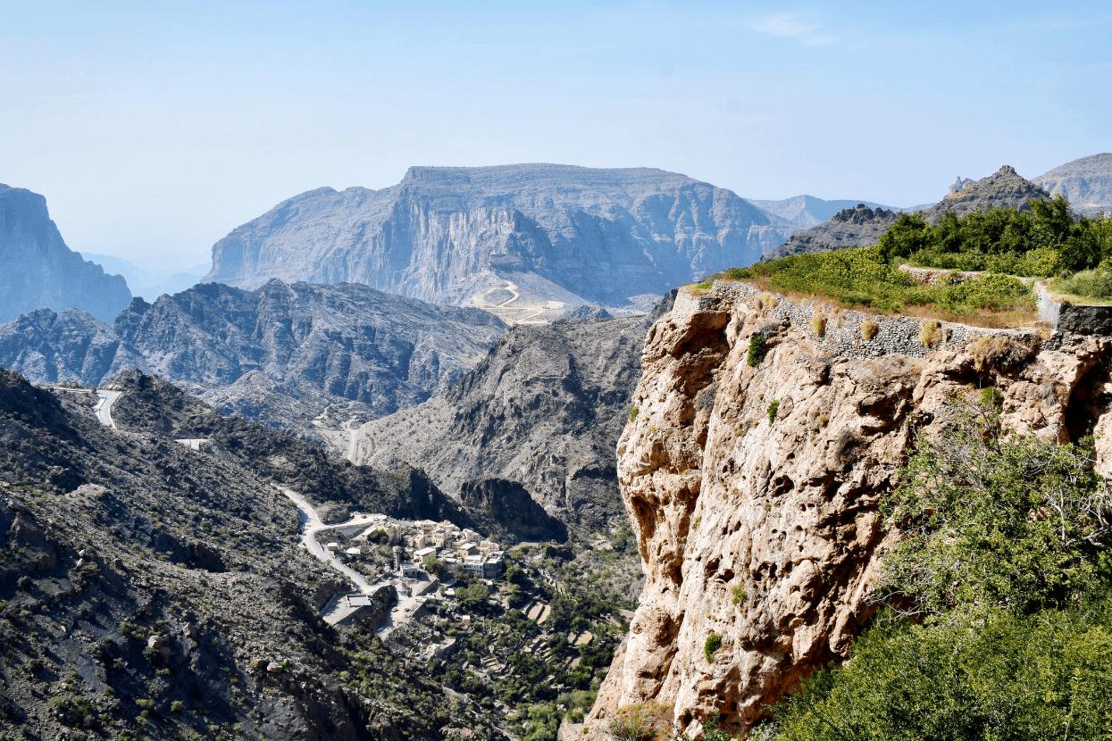 Al Hajar Mountains in Oman